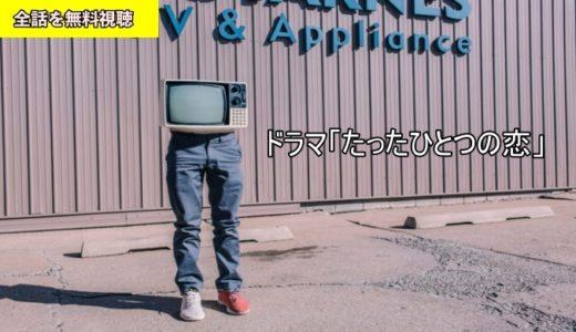 ドラマ たったひとつの恋 1話~最終回の動画フル無料視聴!Dailymotion/Pandora動画配信・DVDレンタルサイト最新情報